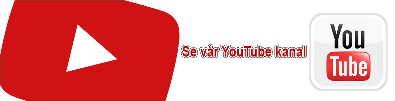 Besök vår youtubekanal och se produktvideos med mera...